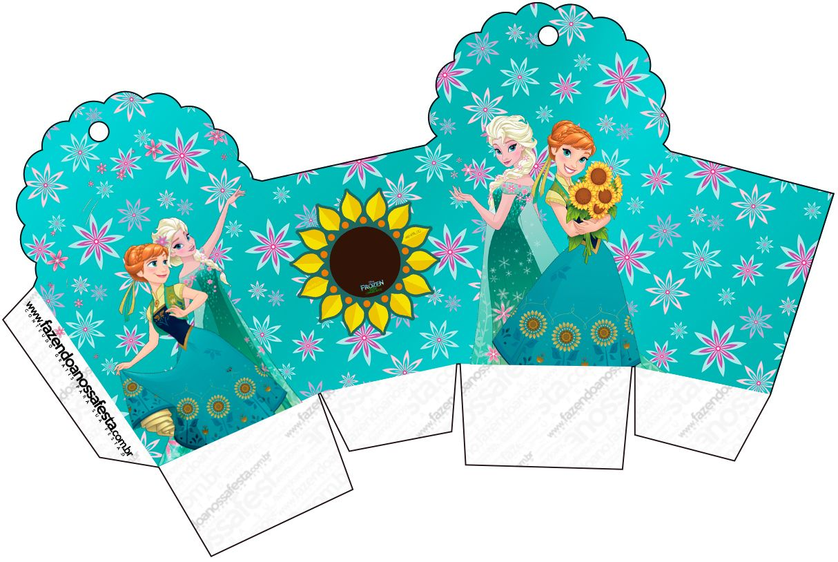 1214x814 Caixa Cupcake Frozen Fever Cute