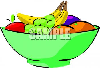 350x238 Clip Art Bowl Of Vegetable Clipart