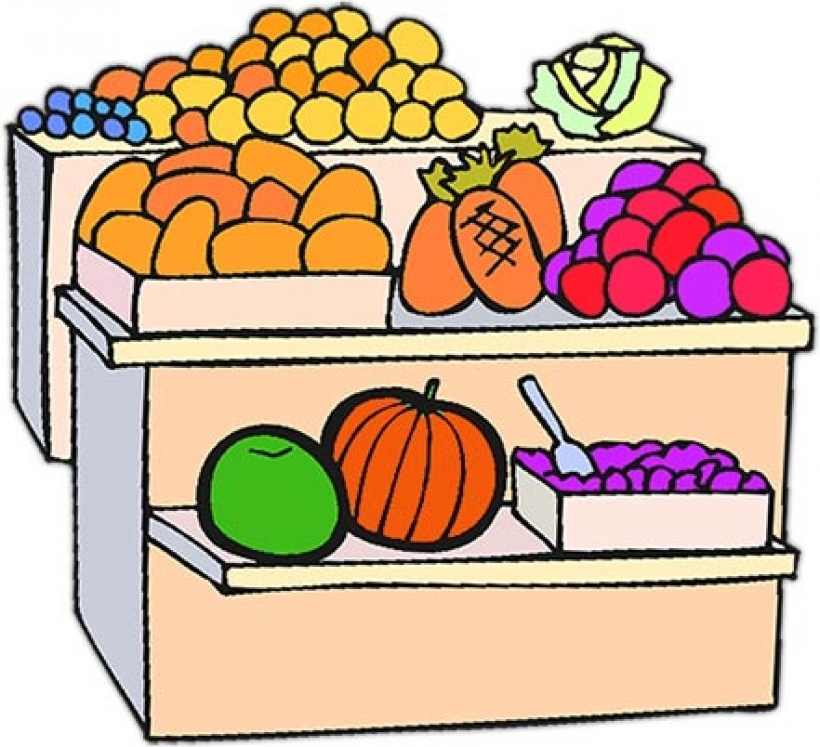 820x747 Fruit Stand Clipart Clip