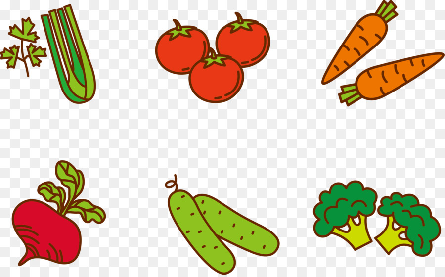 900x560 Fruit Vegetable Cartoon Clip Art
