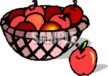 350x248 Royalty Free Clip Art Image Apples In A Basket
