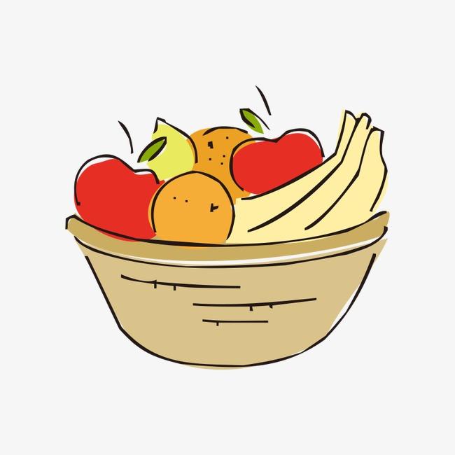 650x650 Cartoon Basket,baskets, Cartoon Basket, Baskets, Fruit Basket Png