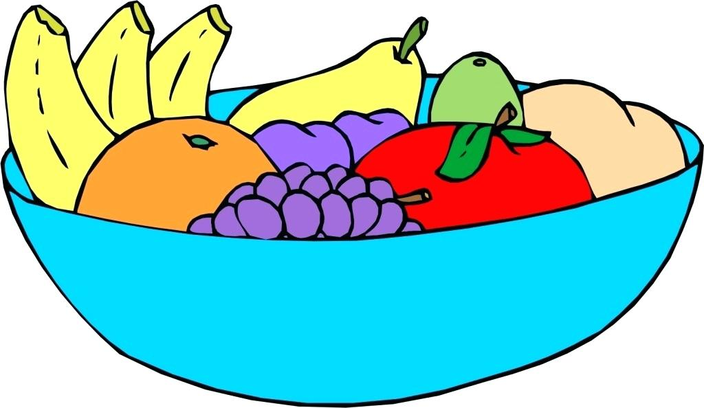 1024x594 Clipart Image Of Fruit Basket