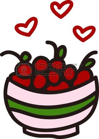 322x450 Bowl Of Cherries Clipart