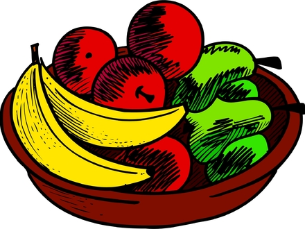 440x330 Free Drawing Of A Fruit Bowl From The Category Cooking, Cartoon