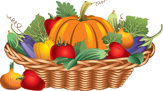 675x378 Basket Of Vegetables Clipart Black And White