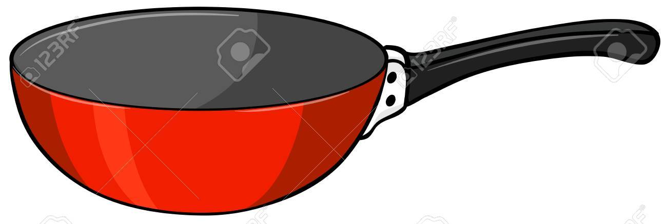 1300x437 Frying Pan Clipart Red