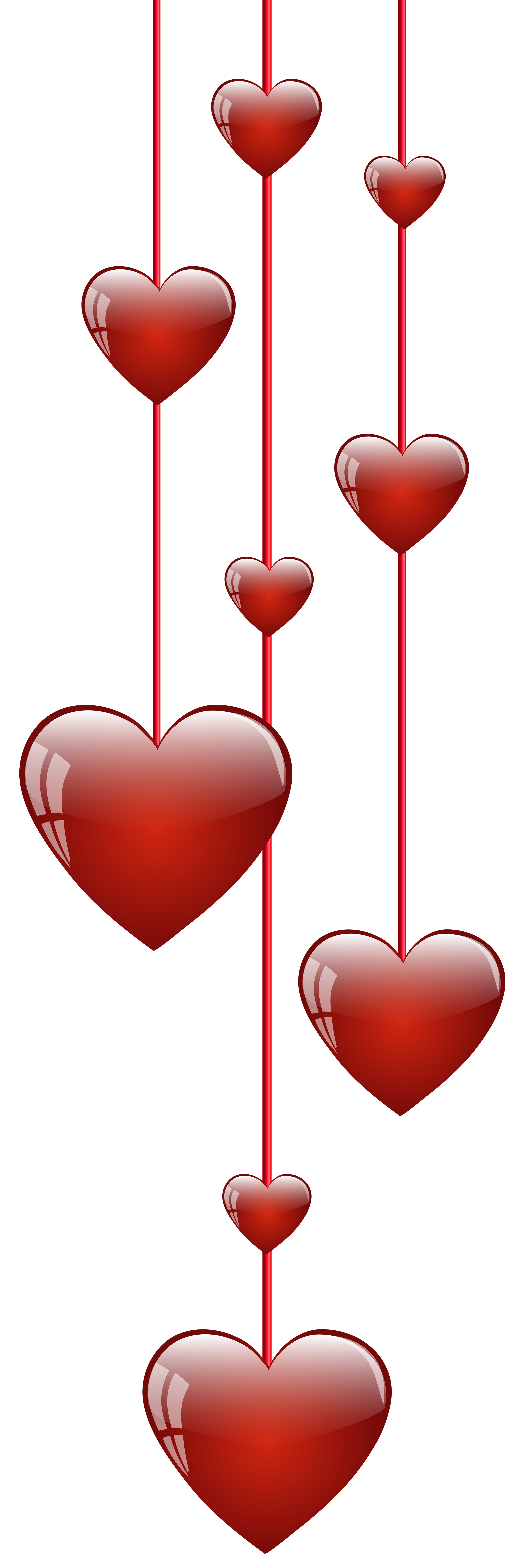 2669x8000 Hanging Hearts Png Clip Art Imageu200b Gallery Yopriceville