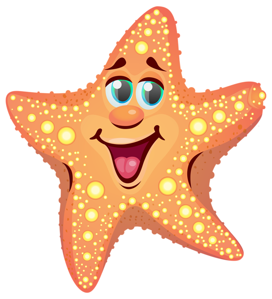 546x600 Cartoon Starfish Png Clipart Image Cute Baby Clipart