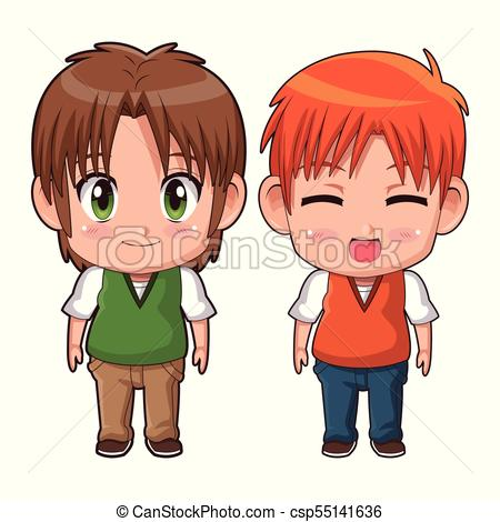 450x470 Colorful Full Body Couple Cute Anime Tennager Facial Vectors