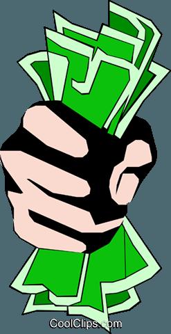 247x480 Fist Full Of Dollars Royalty Free Vector Clip Art Illustration