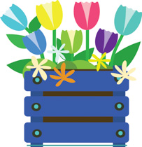 203x210 Free Flowers Clipart
