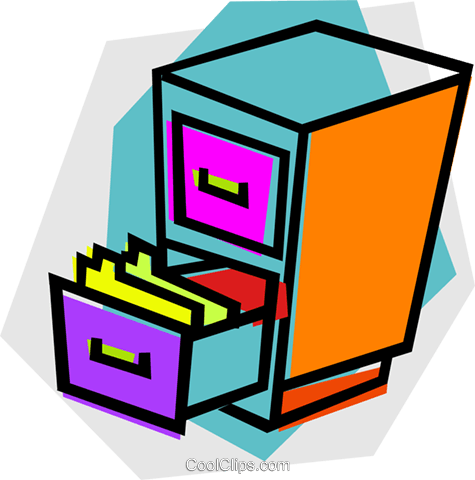 475x480 Full Filing Cabinet Clipart