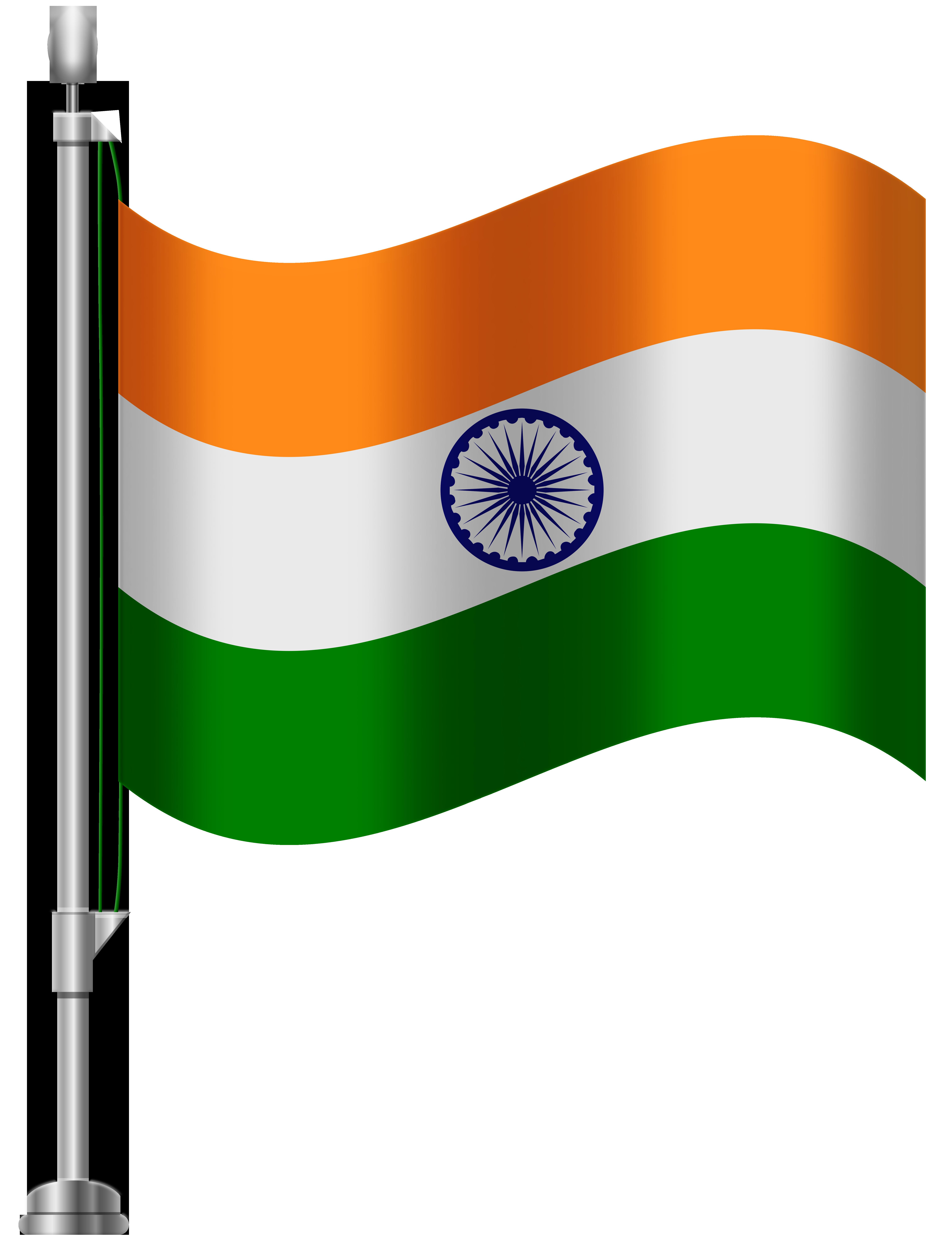 6141x8000 India Flag Png Clip Art