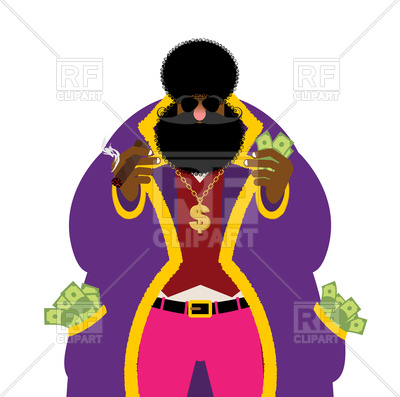 400x397 Pimp And Money. Pocket Full Of Cash. Royalty Free Vector Clip Art