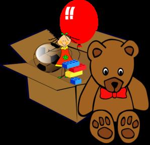 298x288 Box Full Of Toys Clip Art