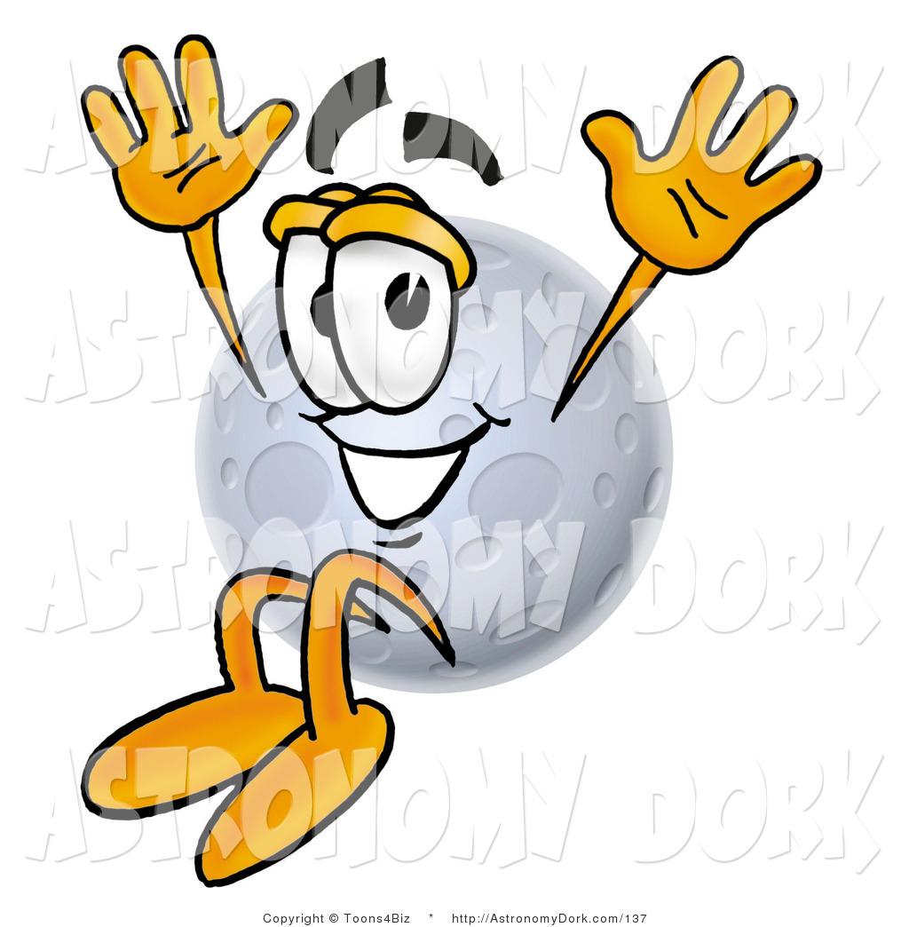 1024x1044 Clip Art Of A Full Moon Mascot Cartoon Character Jumping By