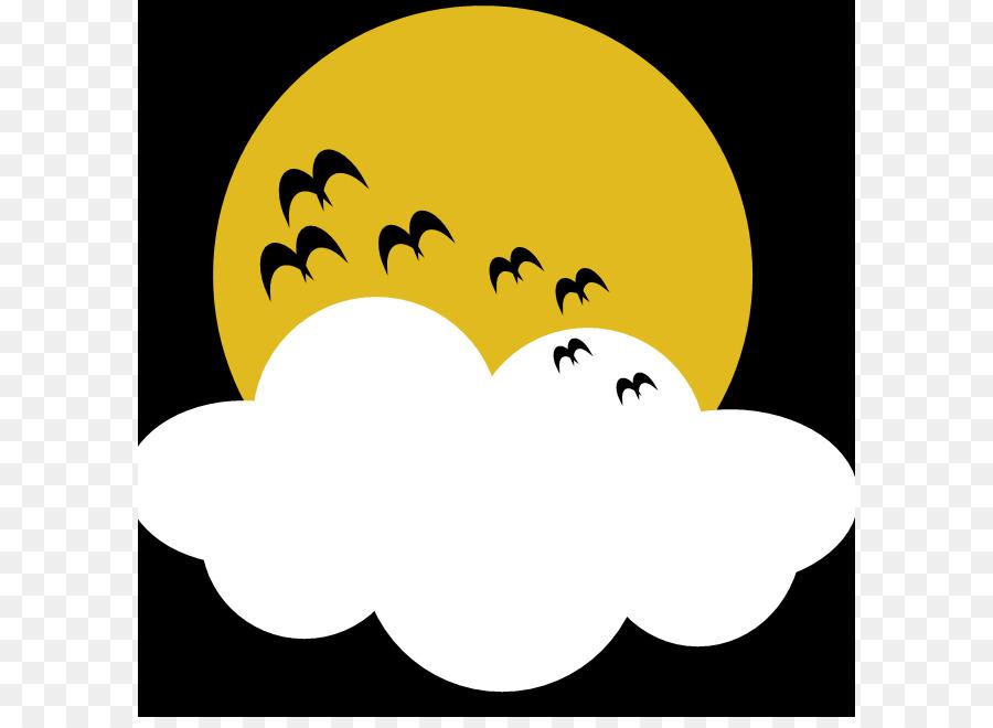 900x660 Full Moon Halloween Clip Art