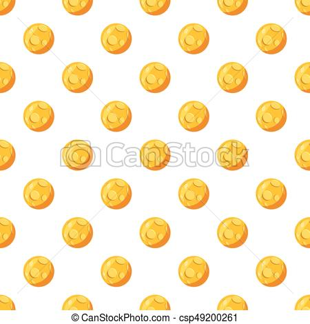 450x470 Moon Pattern Seamless Repeat In Cartoon Style Vector Clip Art