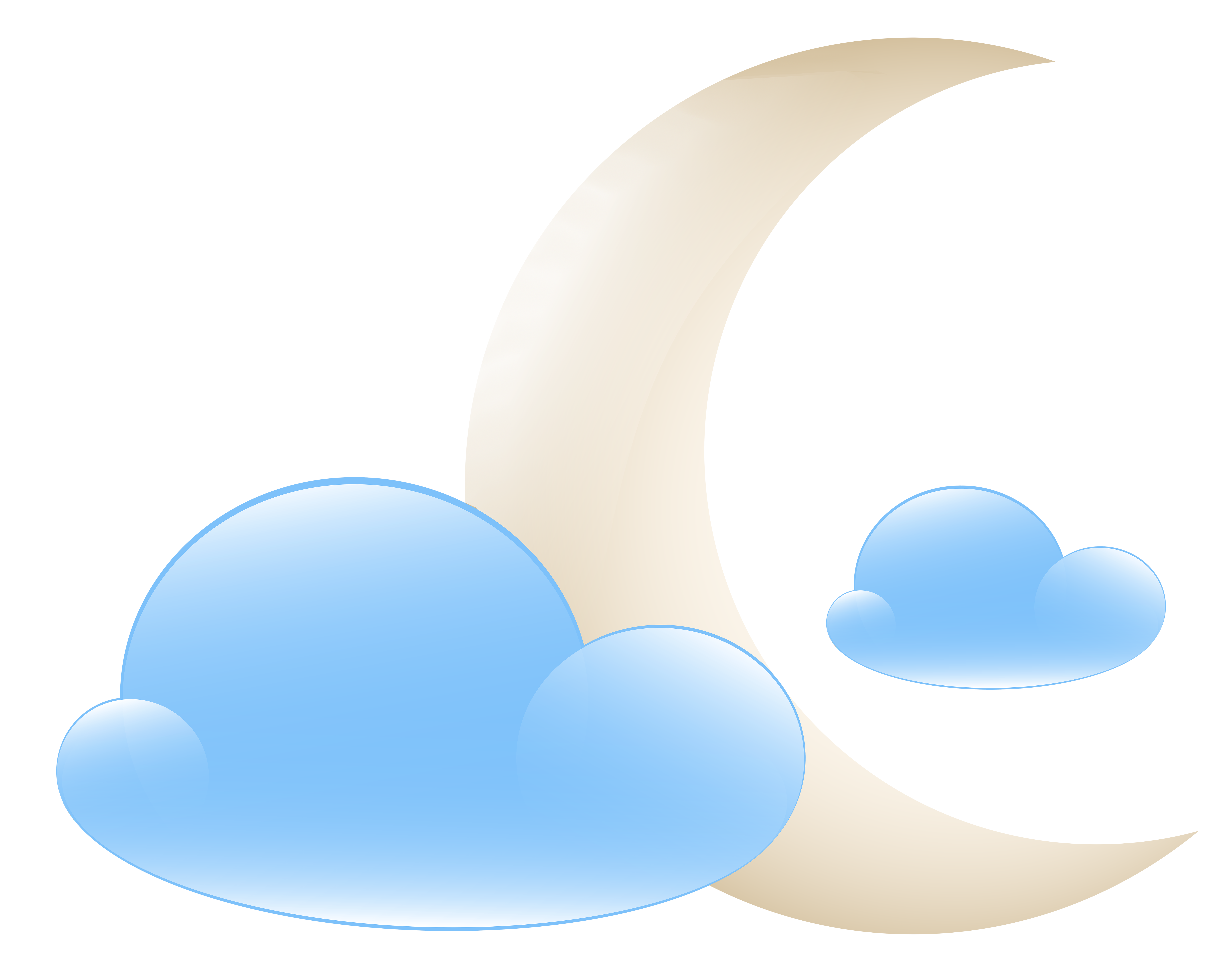 8000x6299 Moon With Clouds Weather Icon Png Clip Art