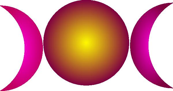 600x317 Triple Goddess Symbol (Waxing Crescent, Full Moon, Waning Crescent