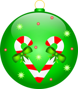 263x300 Green Christmas Tree Ornament Free Clip Art Baubles Clipart