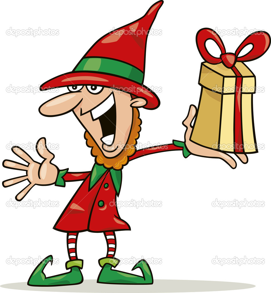 945x1023 Silly Christmas Elves Clipart