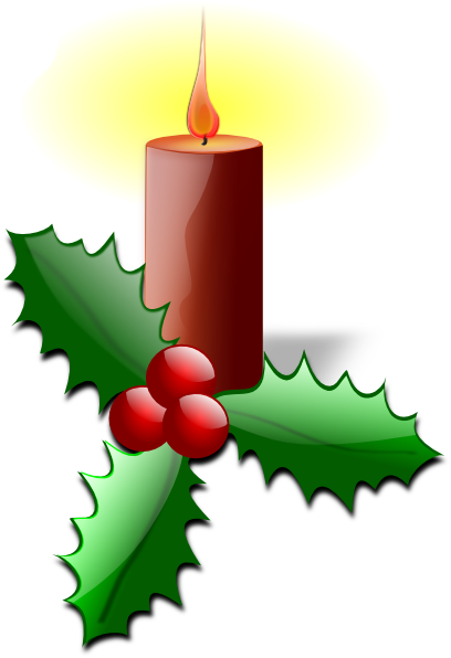 408x596 Christmas Candle Clipart