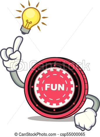 343x470 Have An Idea Funfair Coin Mascot Cartoon Vector Illustration Clip