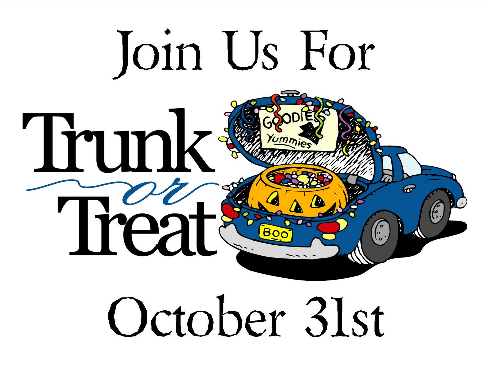 1600x1236 Trunk Or Treat Clipart