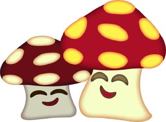 340x250 Happy Mushrooms Clip Art Free Clipart Images