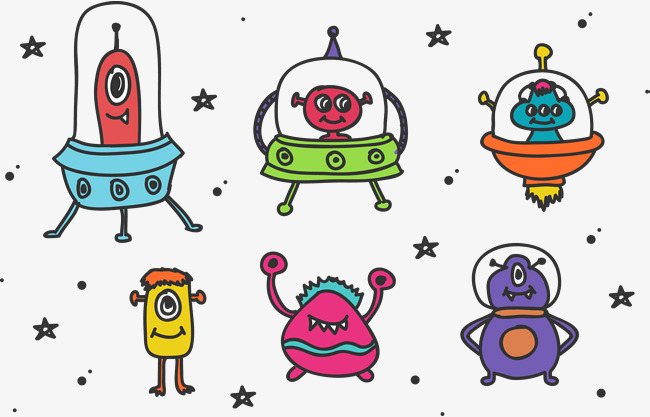 650x417 Cartoon Pictures Of Aliens Colouring In Good Three Clipart Draw