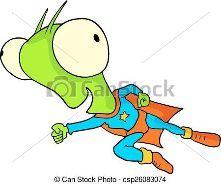 450x374 Creative Design Of Funny Hero Alien Vectors Illustration