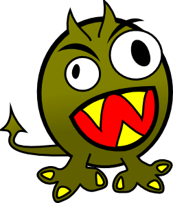 252x297 Small Funny Angry Monster Clip Art