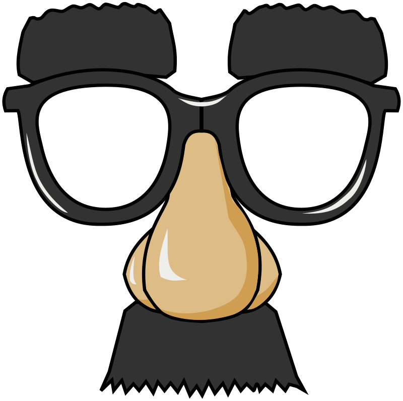 800x796 Free Clipart Funny Glasses Ghosthand