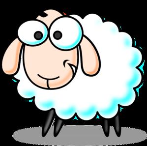299x297 Funny Sheep Clip Art