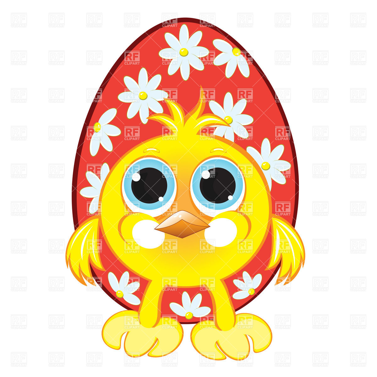 1200x1200 Funny Chicken And Easter Egg Royalty Free Vector Clip Art Image