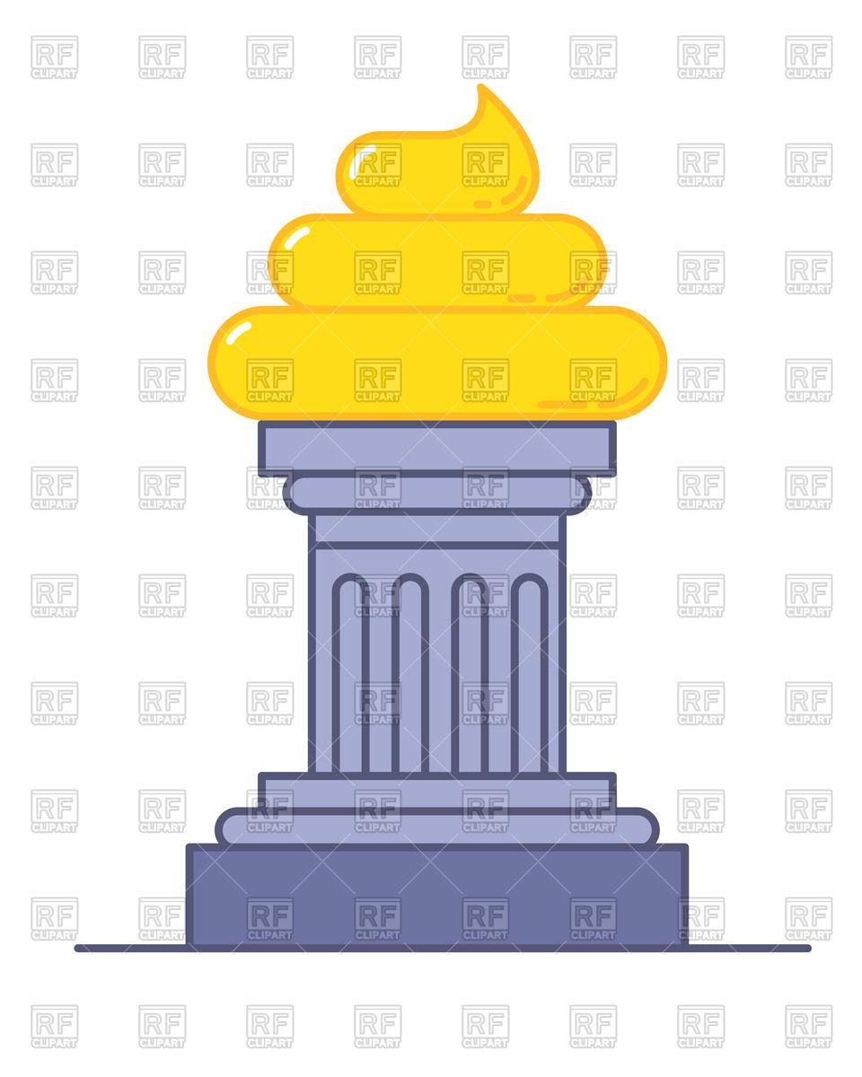 960x1200 Golden Poop Award, Funny Trophy Royalty Free Vector Clip Art Image