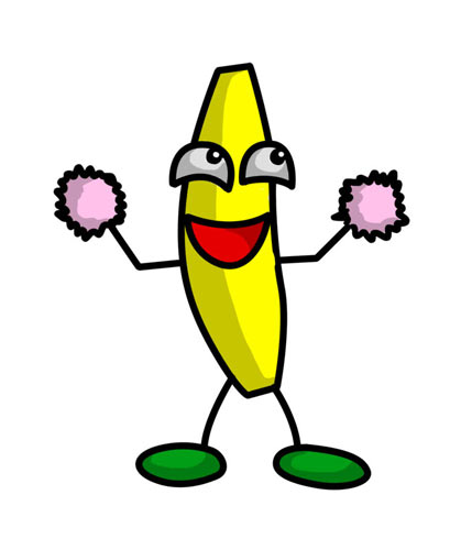 419x500 Funny Banana Pictures Clip Art