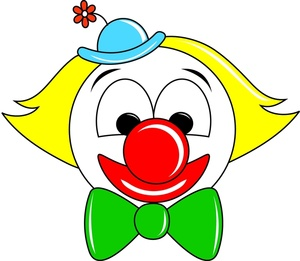 300x261 Clown Clipart Image