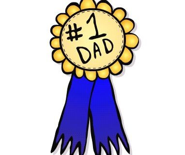 382x320 Fathers Day Craft, Clipart, Sketch, Drawing, Printable Card