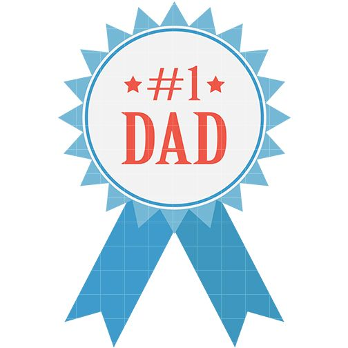 504x504 Free Fathers Day Clipart Images, Black And White Transparent