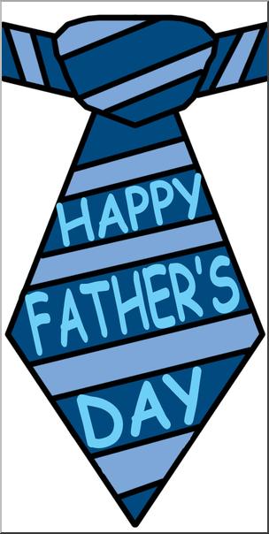 304x604 Clip Art Happy Father's Day Tie Color I Abcteach