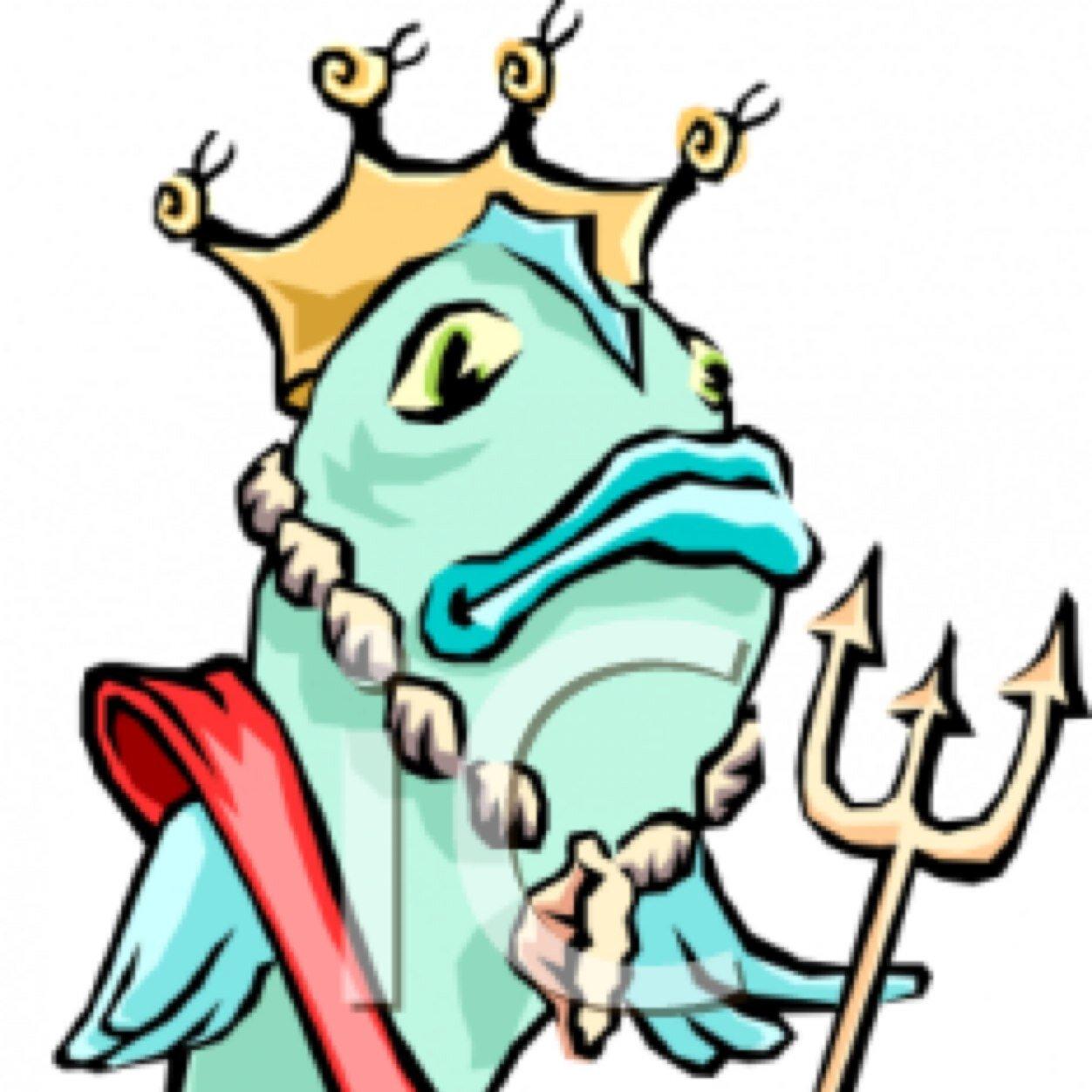 1252x1252 Clipart King Fish Funny Cartoon Royalty Free Cliparts Vectors