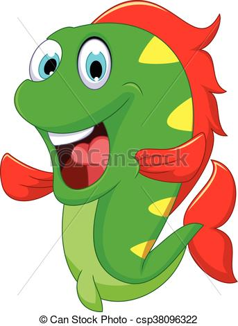 343x470 Vector Illustration Of Funny Fish Cartoon For You Design Vector