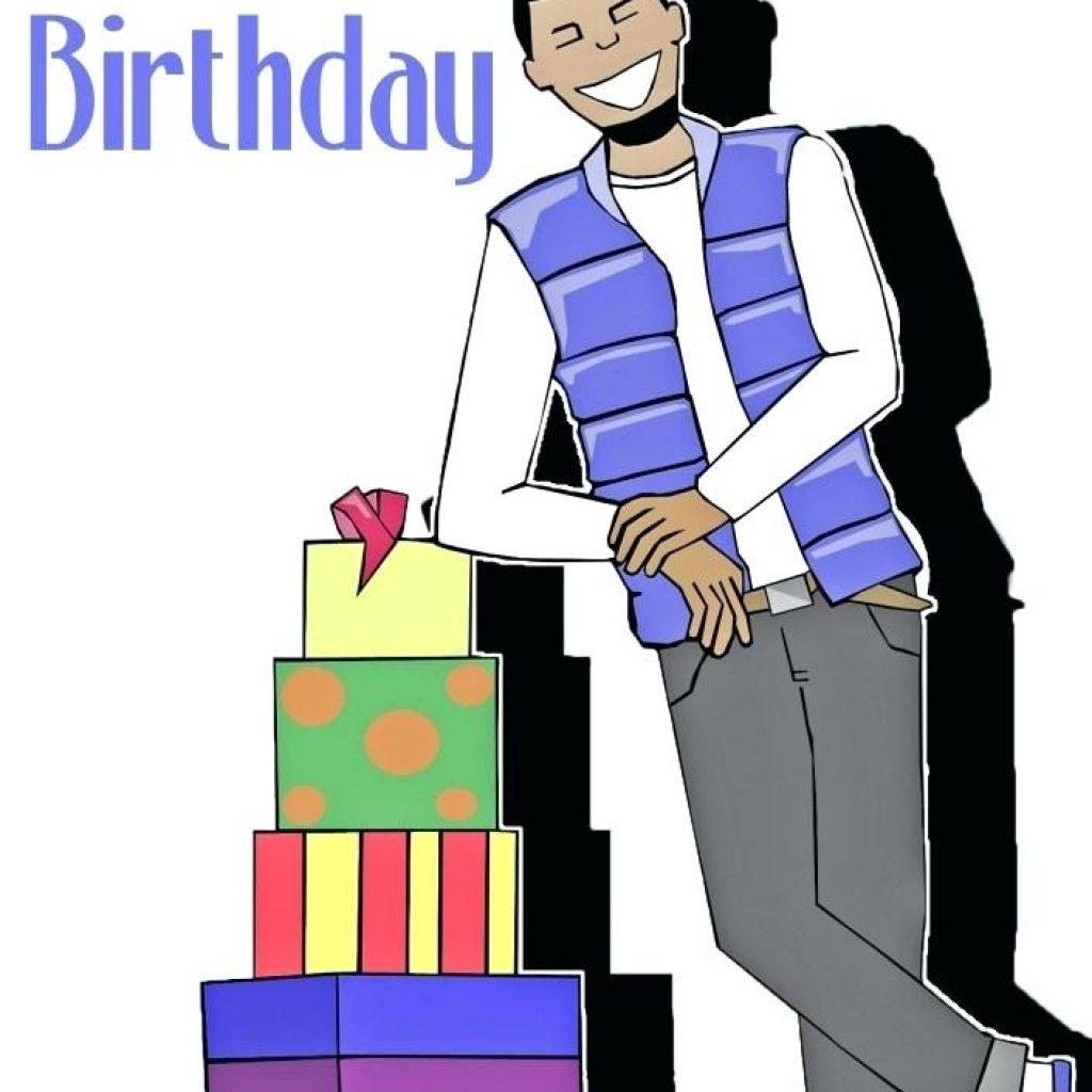 1024x1024 Happy Birthday Clip Art For Man