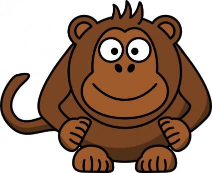 425x347 Funny Animated Monkey Clipart