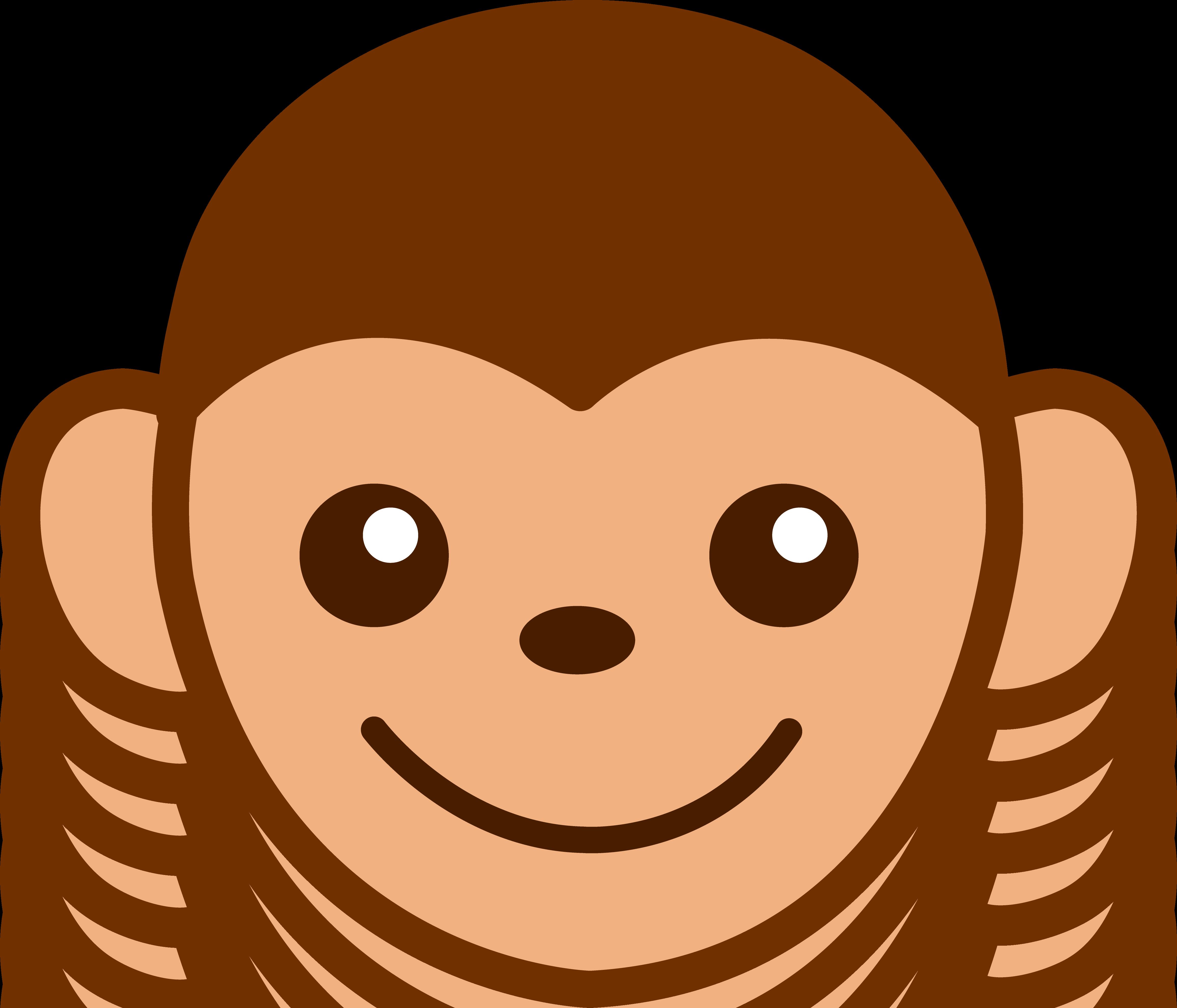 4626x3963 Funny Monkey Face Clip Art Clipart Panda