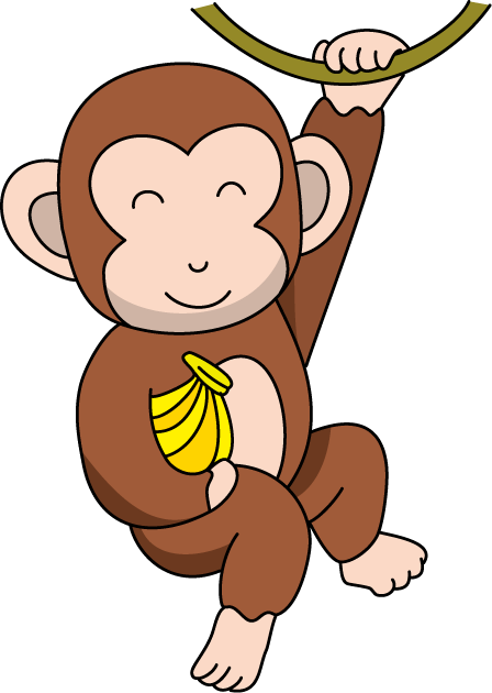 448x630 Image Of Cute Monkey Clipart