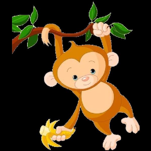 600x600 Baby Monkey Clip Art Cute Funny Cartoon Ba Monkey Clip Art Images